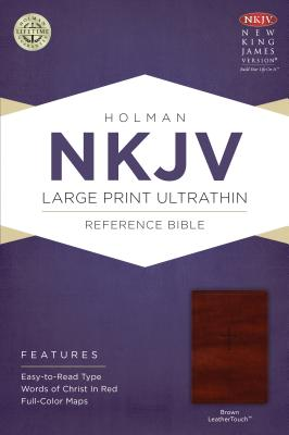 Image for NKJV Large Print Ultrathin Reference Bible, Brown LeatherTouch
