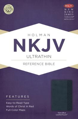 Image for NKJV Large Print Ultrathin Reference Bible Slate Blue Leathertouch