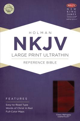 NKJV Large Print Ultrathin Reference Bible, Classic Mahogany LeatherTouch