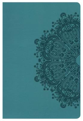 """Image for """"''KJV Large Print Personal Size Reference Bible, Teal LeatherTouch, Thumb-Indexed''"""""""