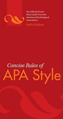 Image for Concise Rules of APA Style