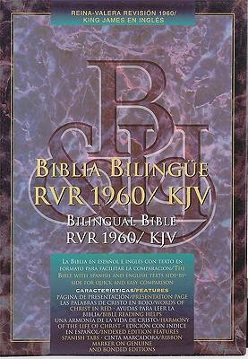 RVR 1960/KJV Biblia Bilingue, borgo�a imitacion piel (Spanish Edition)