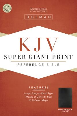 Image for KJV Super Giant Print Reference Bible, Black Simulated Leather (King James Version)