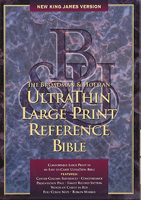 Image for NKJV Large Print Ultrathin Reference Bible, Burgundy Bonded Leather (King James Version)
