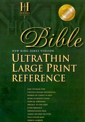 Holy Bible: New King James Version Ultra Thin Large Print Reference, Burgundy Genuine Leather