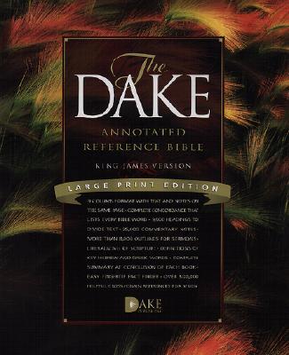 Image for Dake Bible Large Print Black Bonded Leather