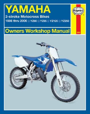 Image for Yamaha YZ80, YZ85, YZ125 & YZ250 1986-2006 2-stroke Motocross Bikes (2662) Haynes Automotive Repair Manual