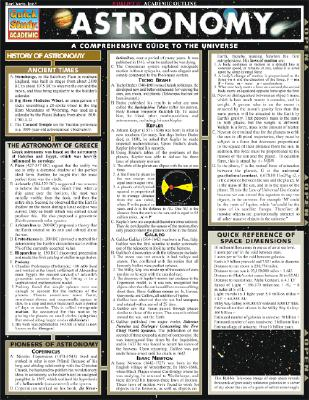 Image for Astronomy (Quickstudy Reference Guides - Academic)