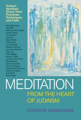 Image for Meditation from the Heart of Judaism: Today's Teachers Share Their Practices, Techniques and Faith