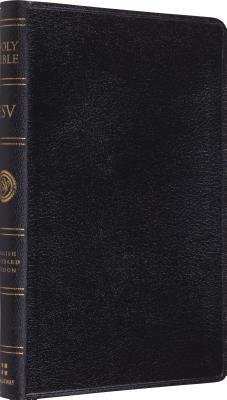 Image for ESV Thinline Bible, Genuine Leather, Black, Red Letter Text