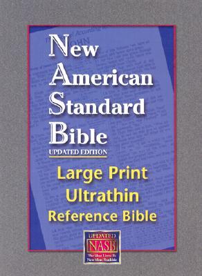 Image for Large Print Ultrathin Reference Bible-NASB [With Velvet Book Holder]
