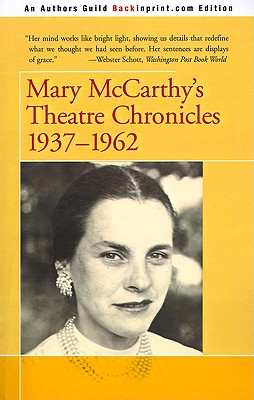Image for Mary McCarthy's Theatre Chronicles