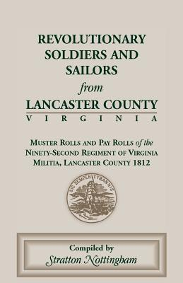 Image for Revolutionary Soldiers and Sailors from Lancaster County, Virginia