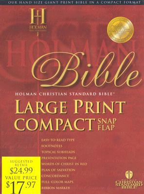 Holy Bible: Holman Christian Standard Bible, Burgundy, Bonded Leather, Large Print Compact, Snap flap Bible