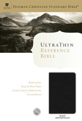Image for HCSB Ultrathin Reference Bible, Black LeatherTouch