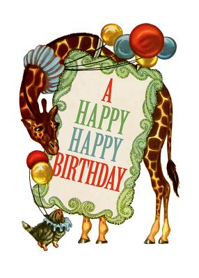 Circus Giraffe - Birthday Greeting Card