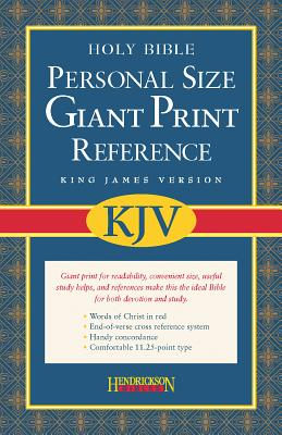 Holy Bible: King James Version, Black Imitation Leather, Personal Size, Giant Print, Reference