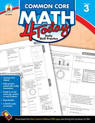 Image for Carson Dellosa | Common Core Math 4 Today Workbook | 3rd Grade, 96pgs (Common Core 4 Today)