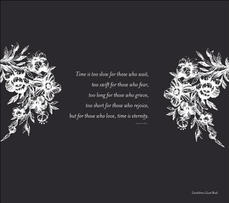 Image for Condolence Guest Book - Black  *** Temporarily Out of Stock ***