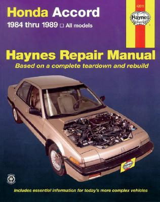 Image for Honda Accord ~ 1984 thru1989, all models (Haynes Repair Manual)