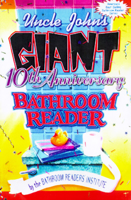 Image for Uncle John's Giant 10th Anniversary Bathroom Reader (Uncle John's Bathroom Reader Series)