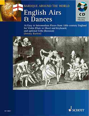 Image for ENGLISH AIRS AND DANCES      VIOLIN AND KEYBOARD BK/CD (Baroque Around the World)