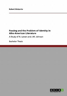 Passing and the Problem of Identity in Afro-American Literature, Wetzorke, Robert