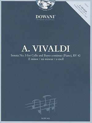 SONATA NO5 IN E MINOR FOR    CELLO AND BASSO CONTINUO     (PIANO) RV40 BK/CD URTEXT