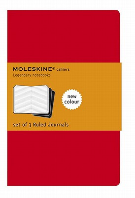 Image for Moleskine Cahier Journal, Soft Cover, Pocket (3.5' x 5.5') Ruled/Lined, Cranberry Red, 64 Pages (Set of 3)