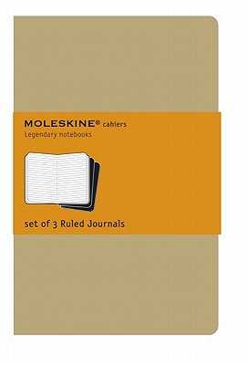 Image for Moleskine Cahier Journal, Soft Cover, XL (7.5' x 9.5') Ruled/Lined, Kraft Brown, 120 Pages (Set of 3)