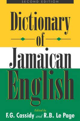 Image for A Dictionary of Jamaican English